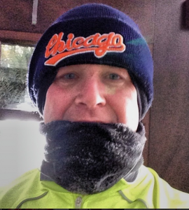 Perry Romanowski joggling winter