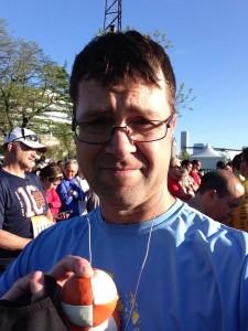 Joggling half marathon